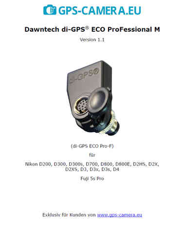 German manual di-GPS ECO ProFessional