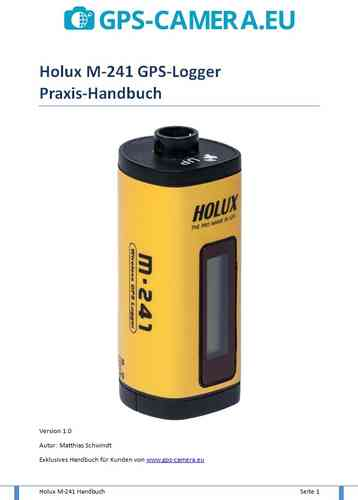 German manual Holux M-241 GPS-Logger