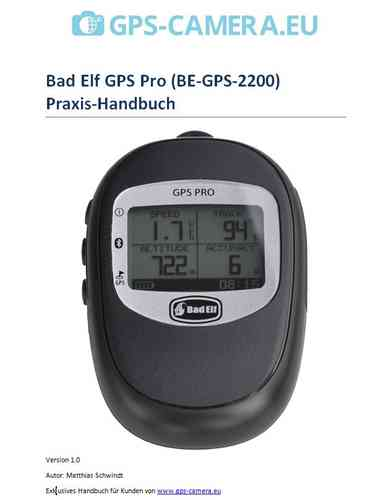 German manual Bad Elf GPS Pro GPS-Logger